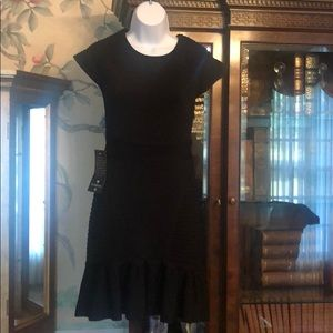 Bebe Black Scuba Stretch Dress
